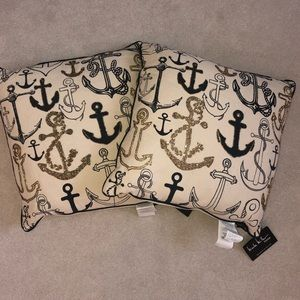 2 Nicole Miller Oversized Nautical Pillows